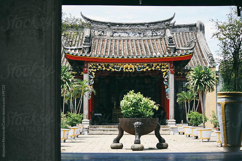 Asian temple in Hoi An, Vietnam by Alejandro Moreno de Carlos for Stocksy United