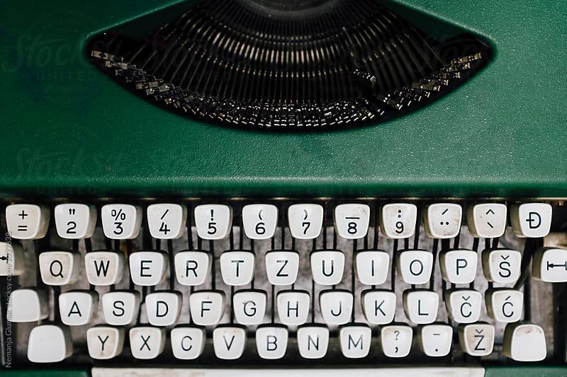 Old Typewriter With Serbo-Croatian Keyboard by Nemanja Glumac for Stocksy United