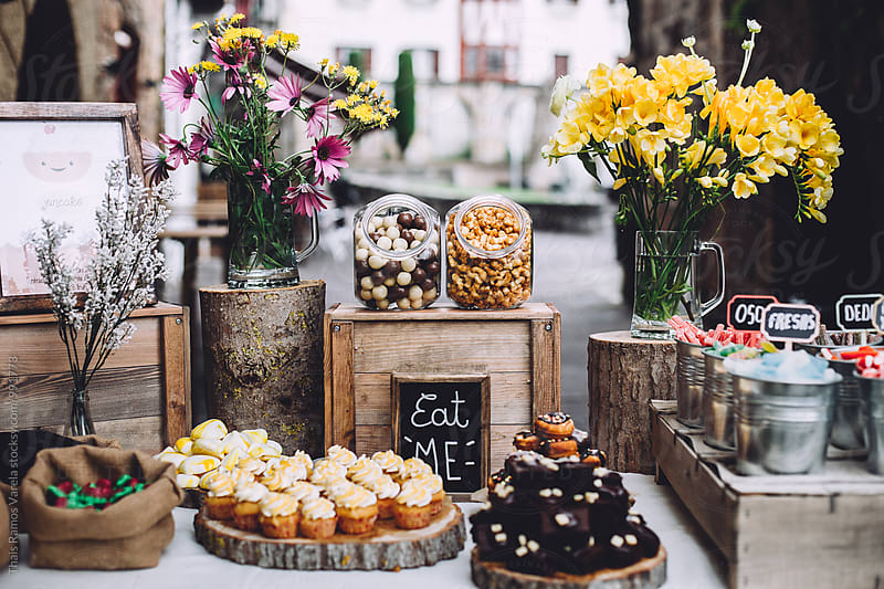 sweet dessert table by Thais Ramos Varela for Stocksy United