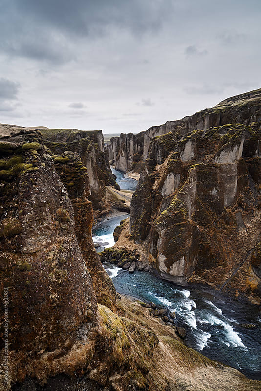 beautiful canyon fjadrargljufur in iceland  by Daxiao Productions for Stocksy United