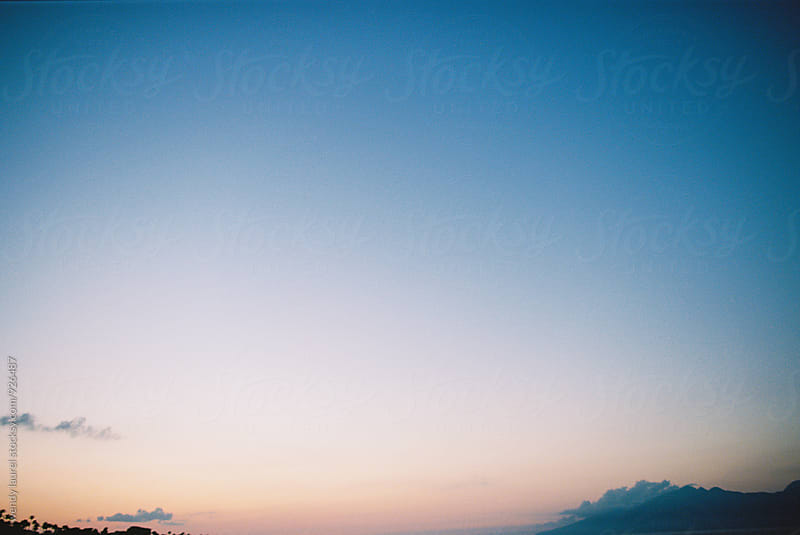 sunset sky in hawaii at twilight by wendy laurel for Stocksy United
