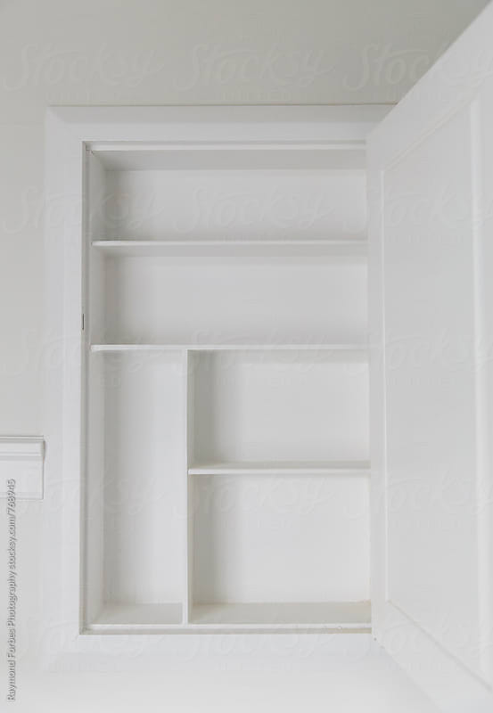 Empty Medicine  Cabinet by Raymond Forbes LLC for Stocksy United