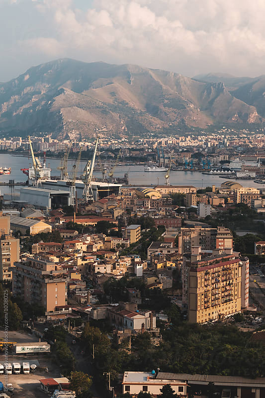 View of Palermo city from Mount Pellegrino by Branislav Jovanovic for Stocksy United