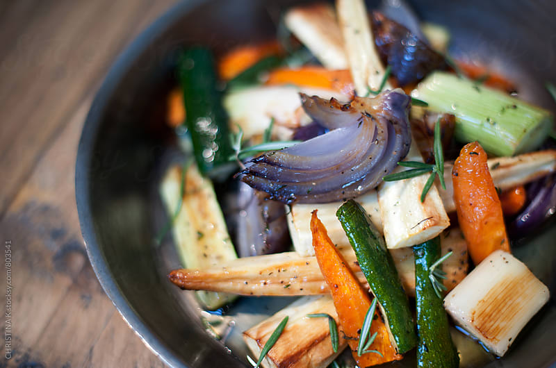 Roasted vegetables by CHRISTINA K for Stocksy United