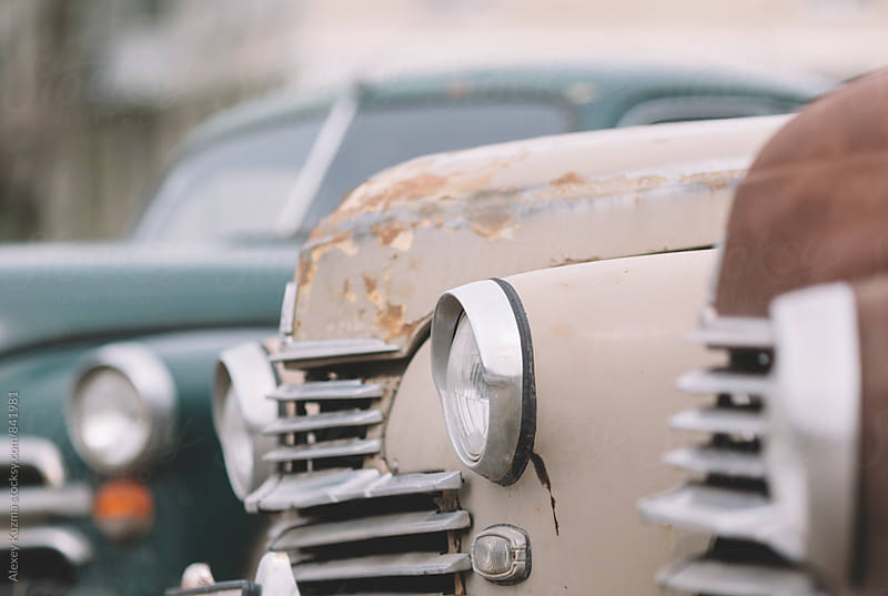 part of a classic vintage cars . by Alexey Kuzma for Stocksy United