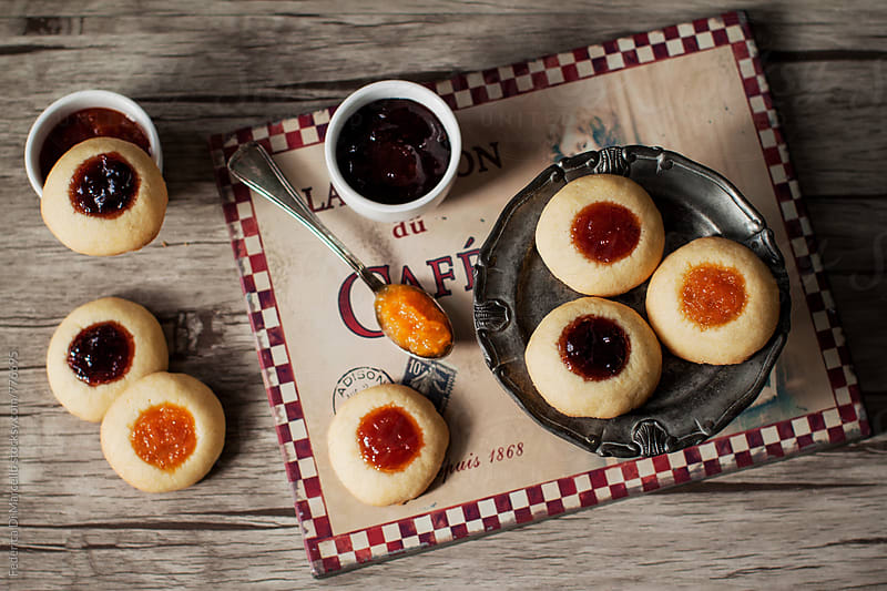 Thumbprint cookies  by Federica Di Marcello for Stocksy United