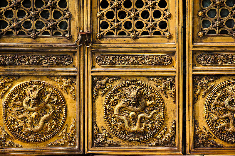Doors, Forbidden City, Beijing, China  by Mental Art + Design for Stocksy United