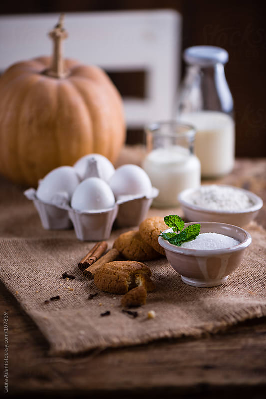 ingredients for pumpkin cream by Laura Adani for Stocksy United
