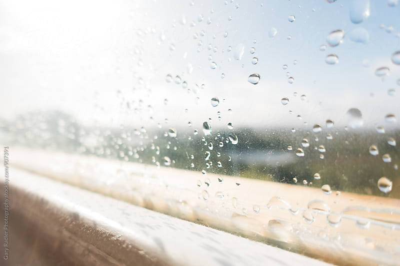 Window with Raindrops by Gary Radler Photography for Stocksy United