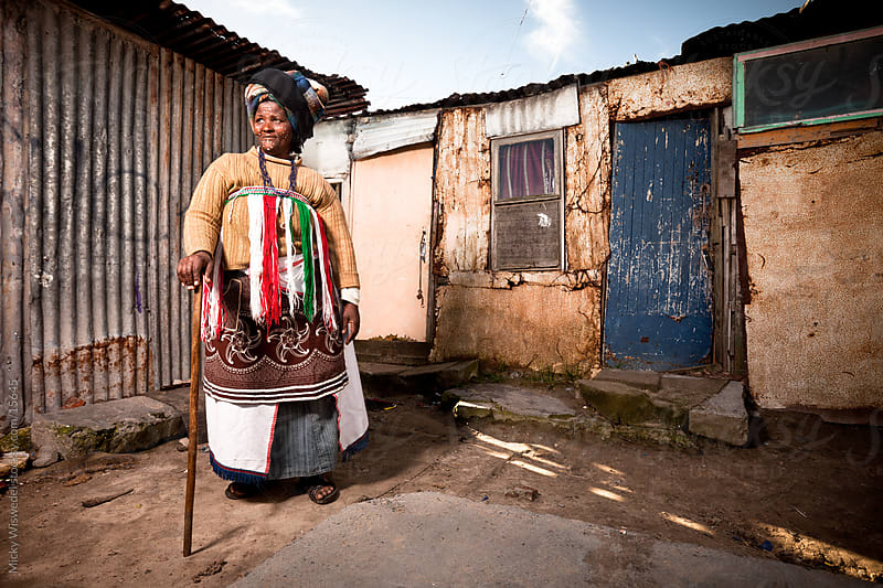 Xhosa Township Woman by Micky Wiswedel for Stocksy United