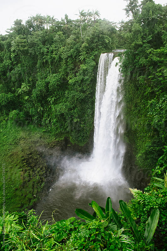 Fuipisia Falls, South Coast, Samoa. by Thomas Pickard for Stocksy United