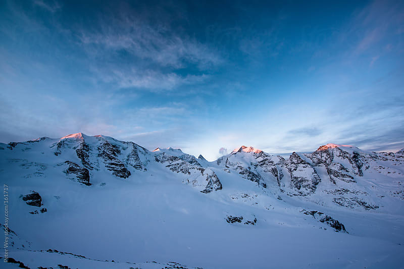 Sunrise panorama from Diavolezza by Peter Wey for Stocksy United
