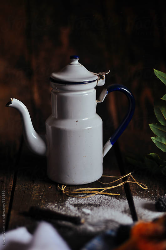 pitcher on the rustic table by Jovana Vukotic for Stocksy United