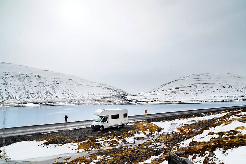 Campervan through Iceland roads by Daxiao Productions for Stocksy United