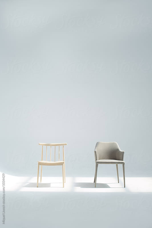 A couple of chairs in the studio  by Miquel Llonch for Stocksy United