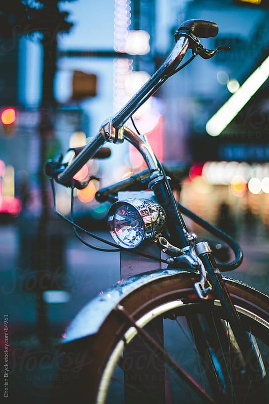 Bike at night by Cherish Bryck for Stocksy United