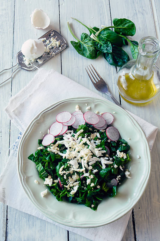 Spinach salad by Pixel Stories for Stocksy United