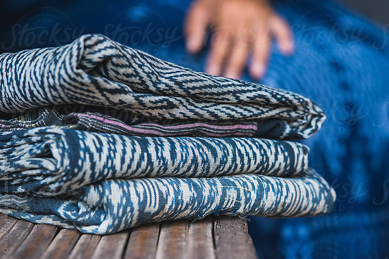 Handicraft Indigo Fabric by Chalit Saphaphak for Stocksy United