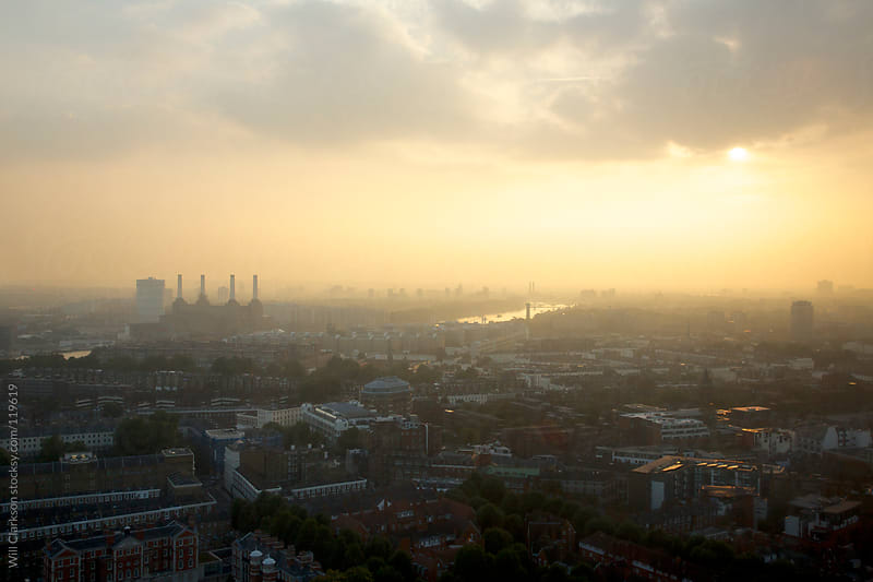 Sunset Over a London Skyline by Will Clarkson for Stocksy United