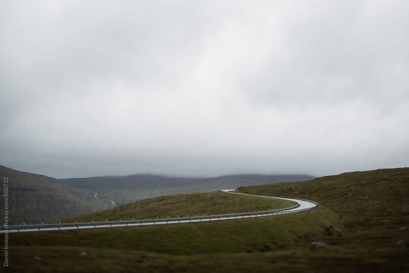 A Winding Road in the Faroe Islands by Daniel Inskeep for Stocksy United