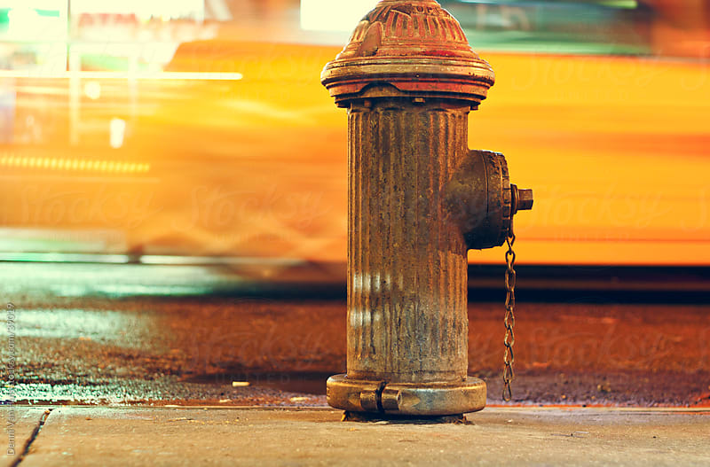 Hydrant on the sidewalk by Denni Van Huis for Stocksy United