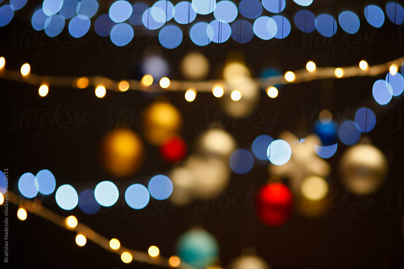 Abstract Christmas lights by Bratislav Nadezdic for Stocksy United