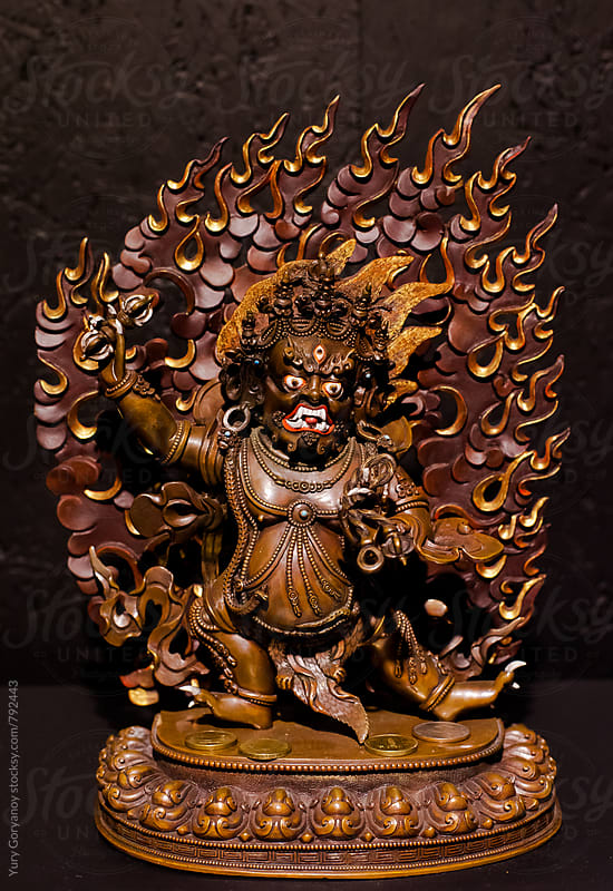 Statue of Vajrapani by Yury Goryanoy for Stocksy United
