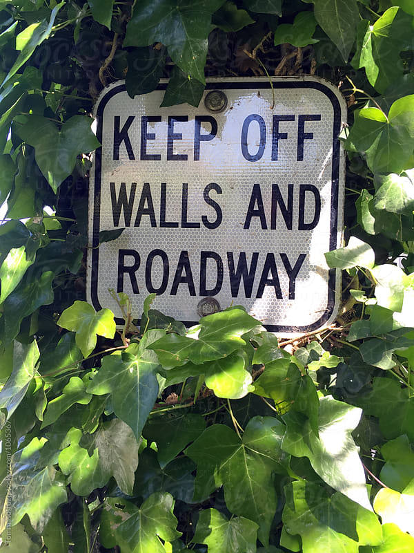 Keep off walls and roadway by Tommaso Tuzj for Stocksy United