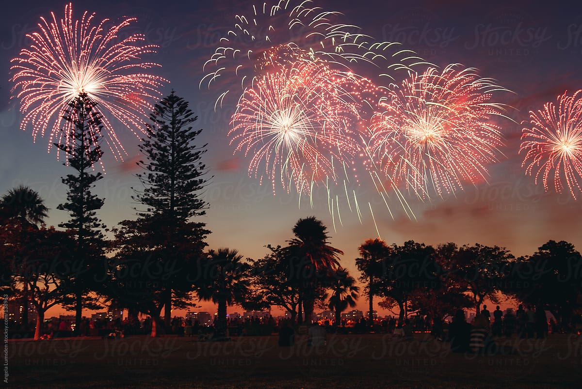 Angela Is The Fireworks Woman people watching fireworks on australia dayangela lumsden