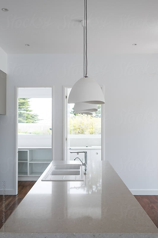 Modern new kitchen by Rowena Naylor for Stocksy United