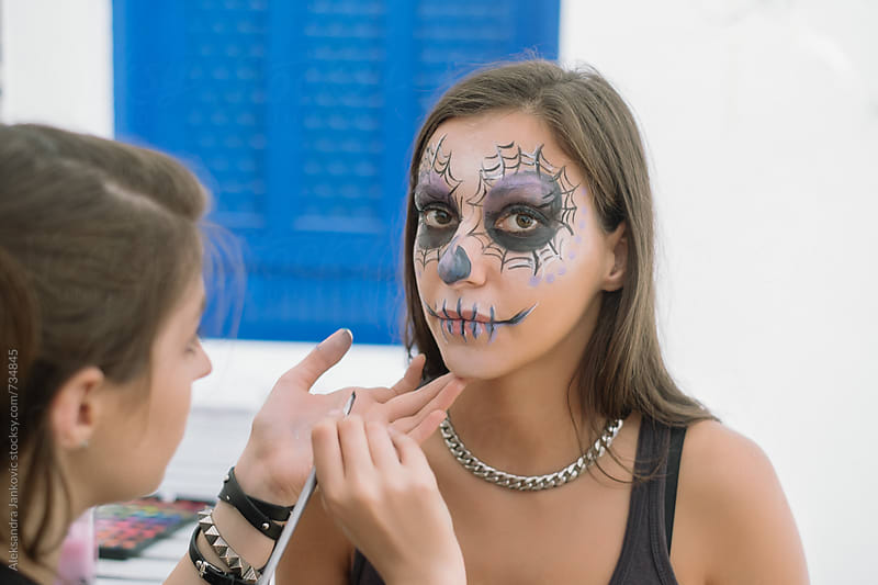 Preparing for the Halloween Party by Aleksandra Jankovic for Stocksy United