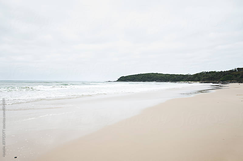 Eastern Beach, Cape Conran, Australia on an overcast day in summer by Natalie JEFFCOTT for Stocksy United