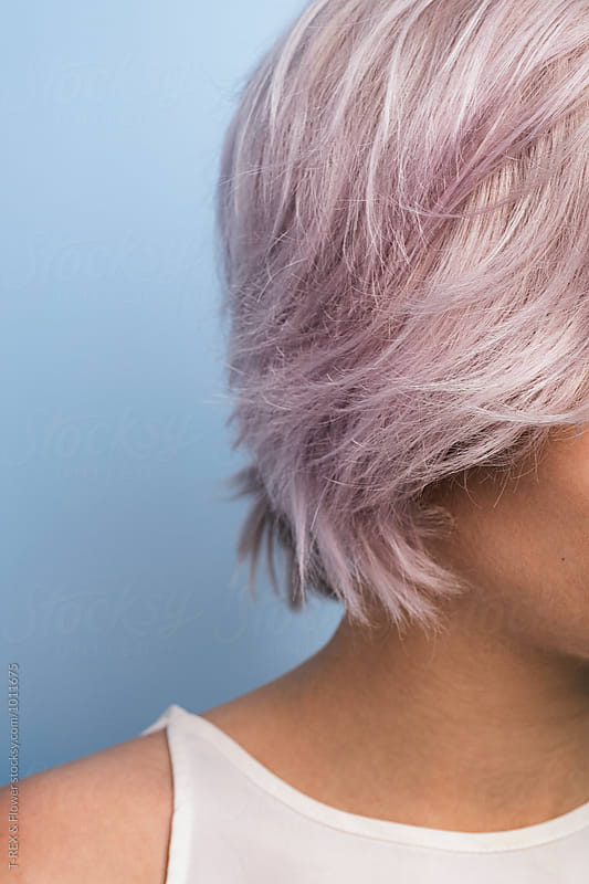 Pink hair in close-up by T-REX & Flower for Stocksy United