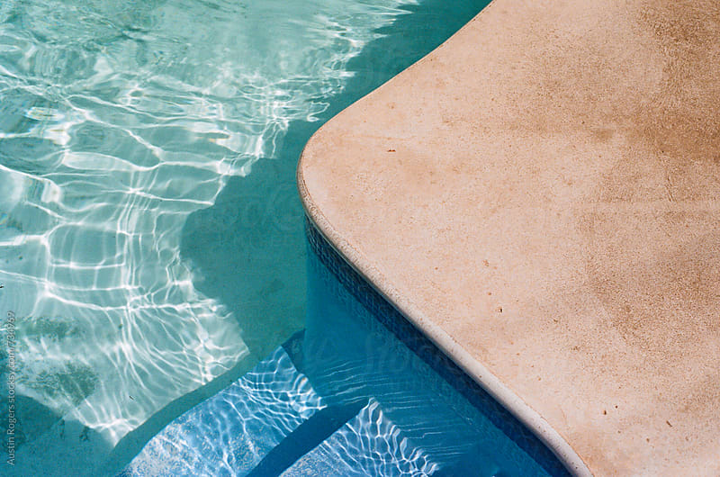 Film Photo of Stairs into a Pool by Austin Rogers for Stocksy United