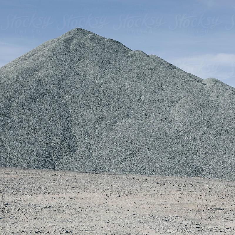 Gravel pile used for road maintenance, Oregon by Paul Edmondson for Stocksy United