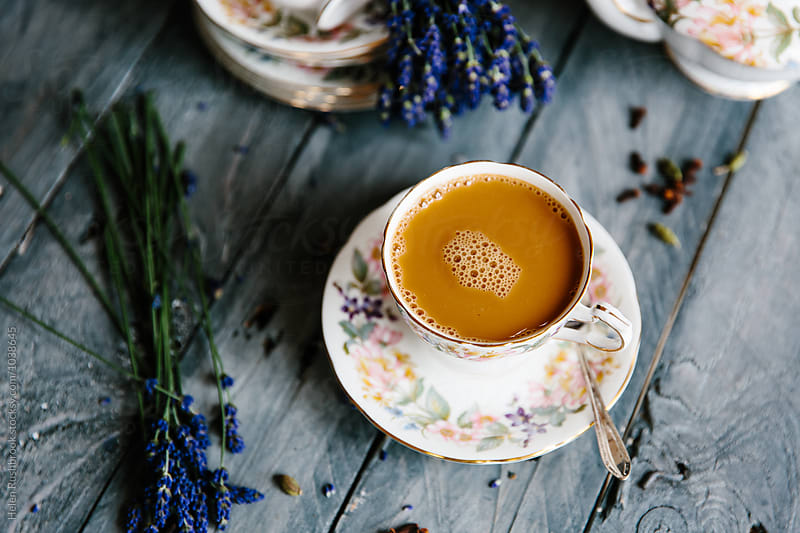 Lavender Chai Tea by Helen Rushbrook for Stocksy United