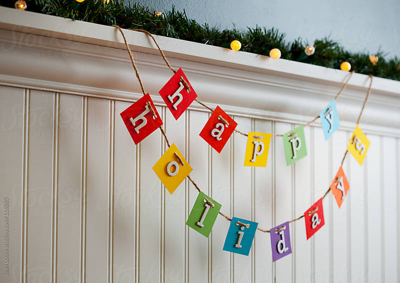Holidays:  Colorful Happy Holidays Decoration by Sean Locke for Stocksy United