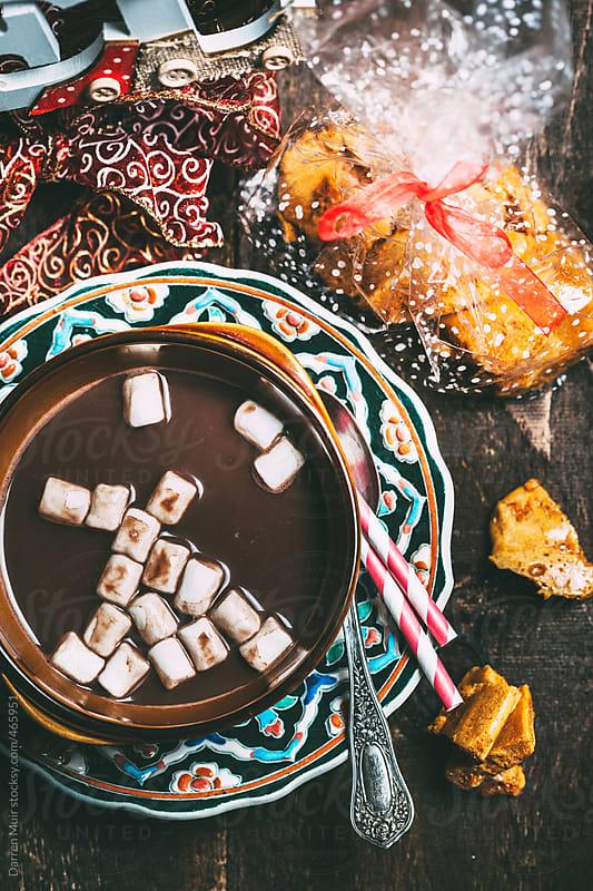 Festive hot chocolate.  by Darren Muir for Stocksy United