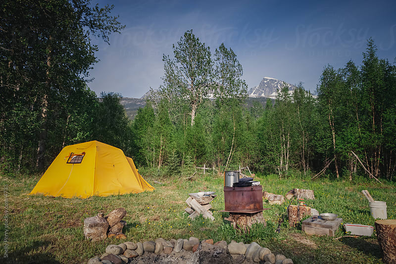 Summer camp in the far outback of Alaska by Shelly Perry for Stocksy United