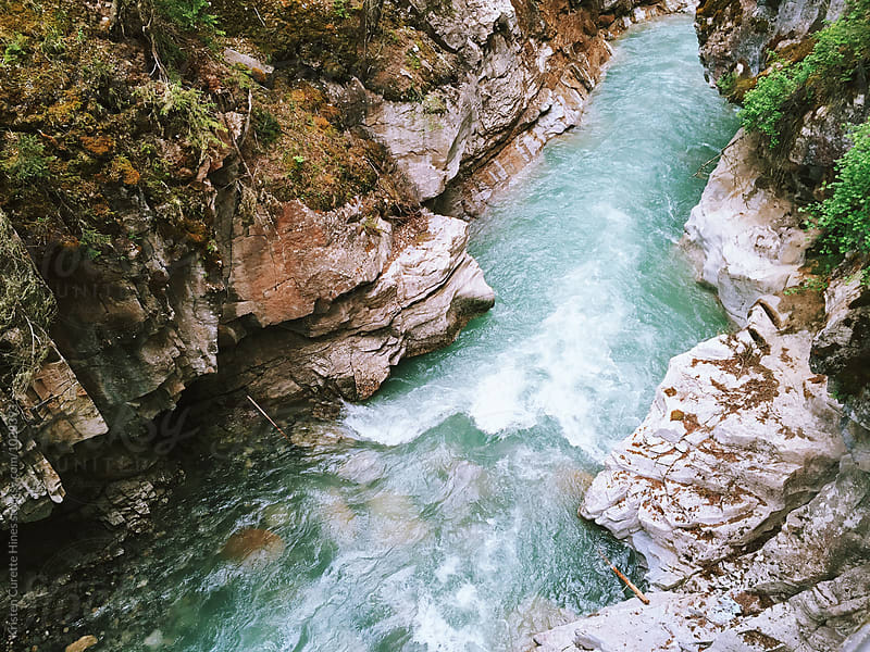 Johnston Canyon river at the banff national park by Kristen Curette Hines for Stocksy United