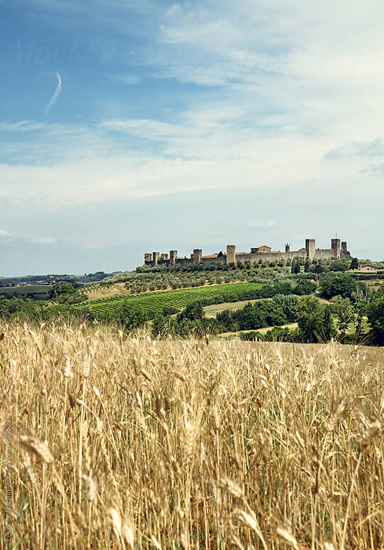 Fortress in the tuscany by Leander Nardin for Stocksy United
