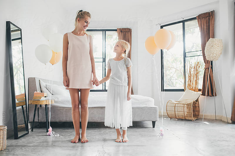 Mother and Daughter Having a Birthday Party by Lumina for Stocksy United