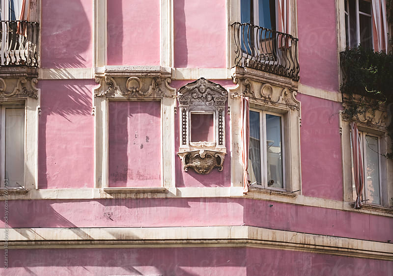 Beautiful Pastel Pink Building by Katarina Radovic for Stocksy United