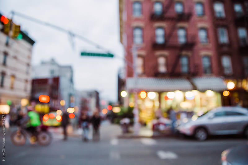Blurry view of New York City street by Holly Clark for Stocksy United