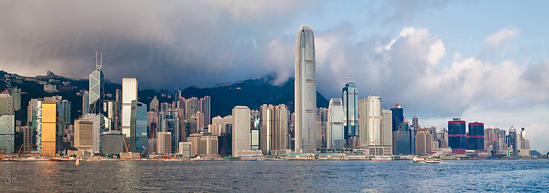 Hong Kong skyline and Victoria Harbour, Hong Kong, China, Asia  by Gavin Hellier for Stocksy United