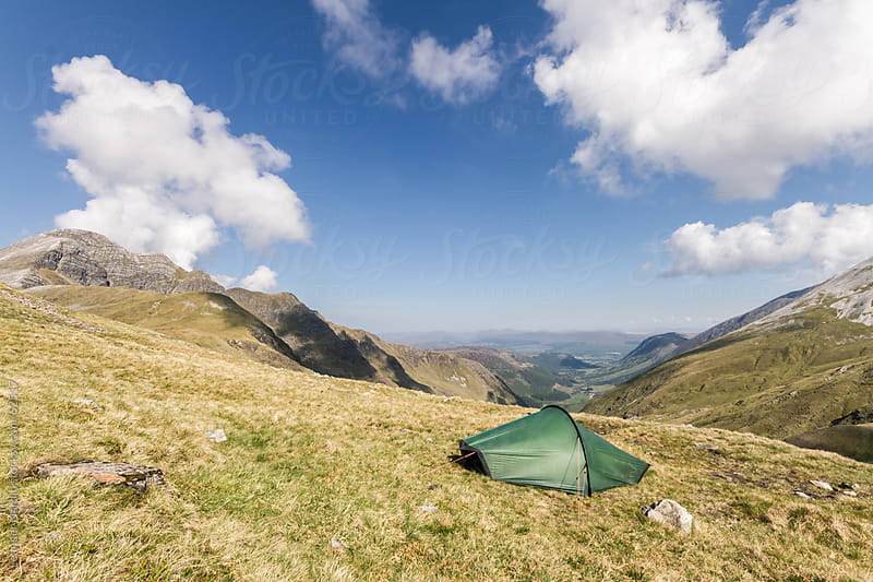 Tent in the scottish highlands by Leander Nardin for Stocksy United