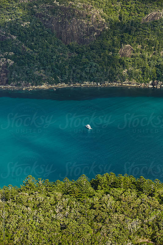 Lonesome boat moored in an Inlet by Joaquim Bel for Stocksy United