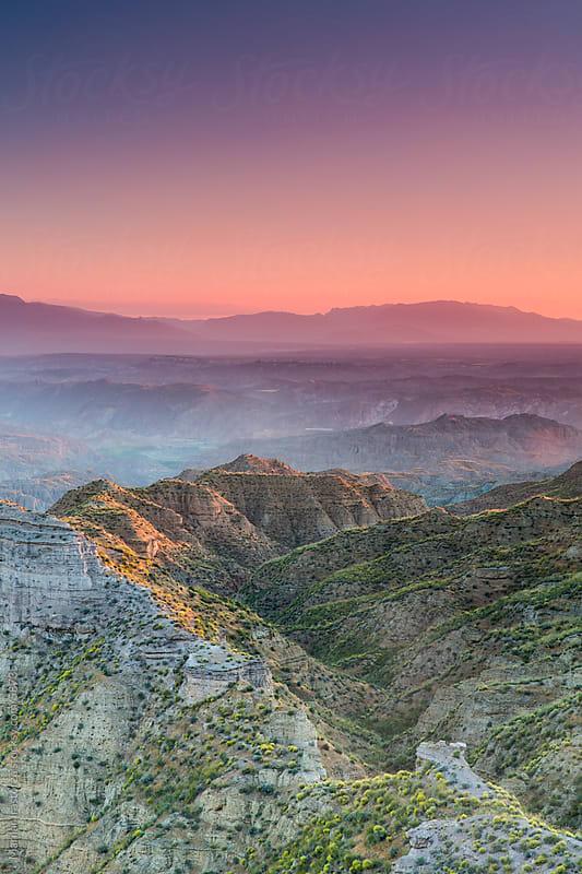 View of a sunset in the desert Gorafe in Granada (Spain) by Marilar Irastorza for Stocksy United