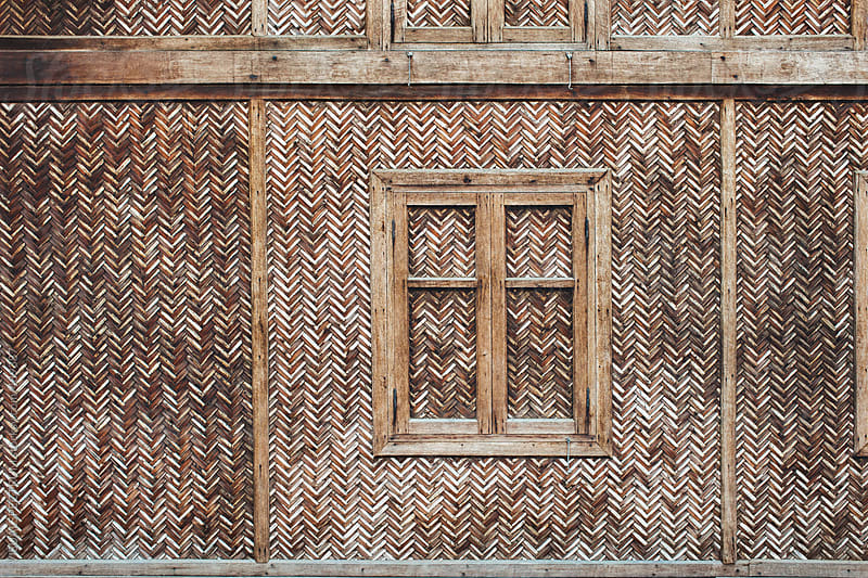Detail of Traditional Burmese Woven Bamboo House by VISUALSPECTRUM for Stocksy United