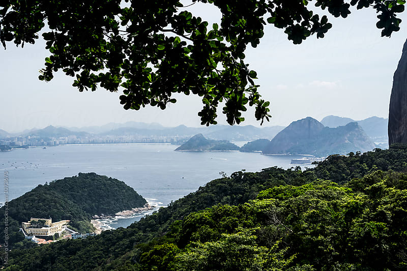 View from Sugarloaf Mountain in Rio de Janeiro, Brazil by Mauro Grigollo for Stocksy United